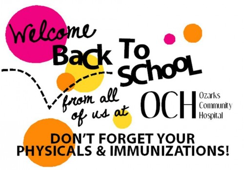Back to School Physicals and Immunizations OCH